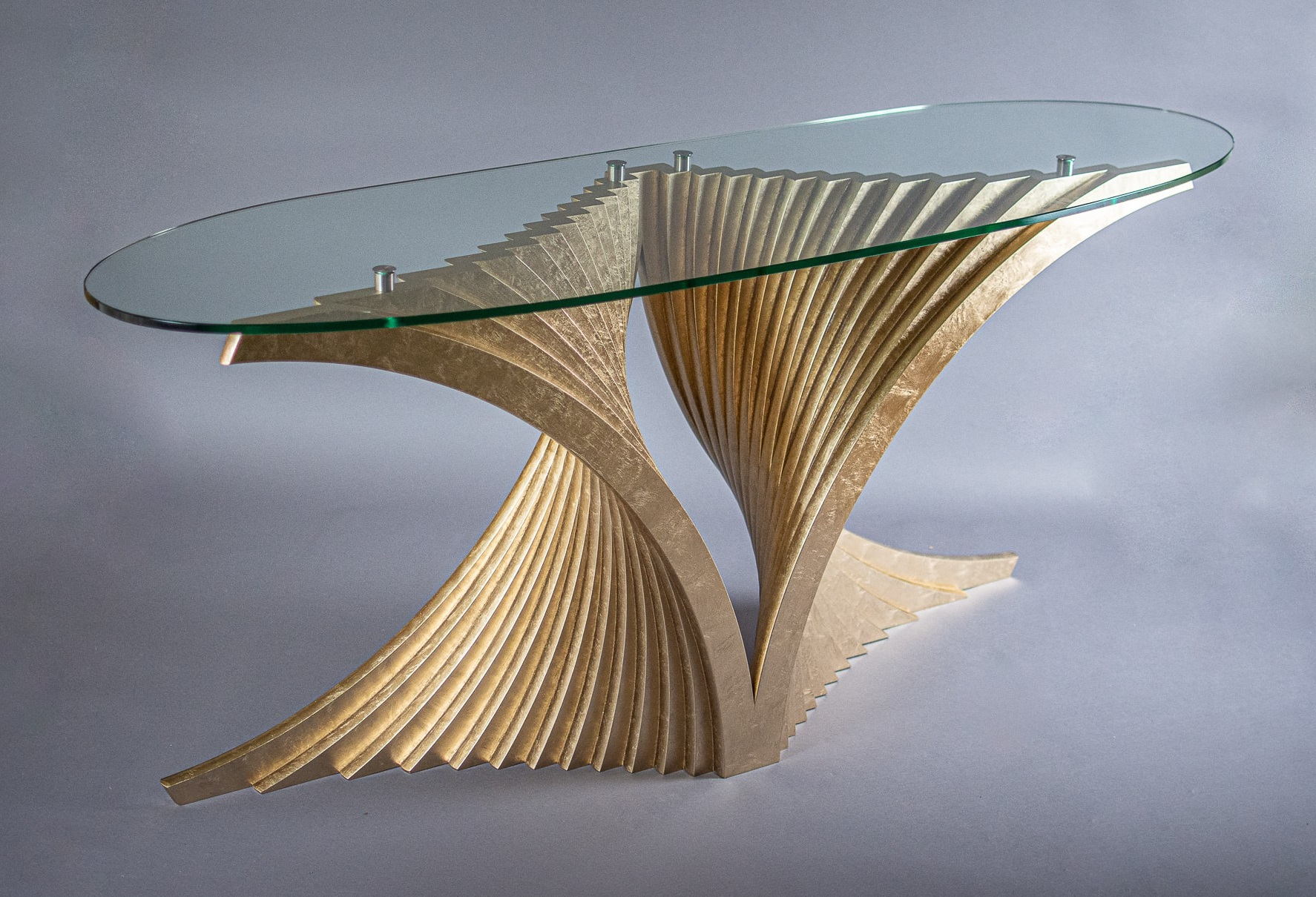 Gilded Helix Table