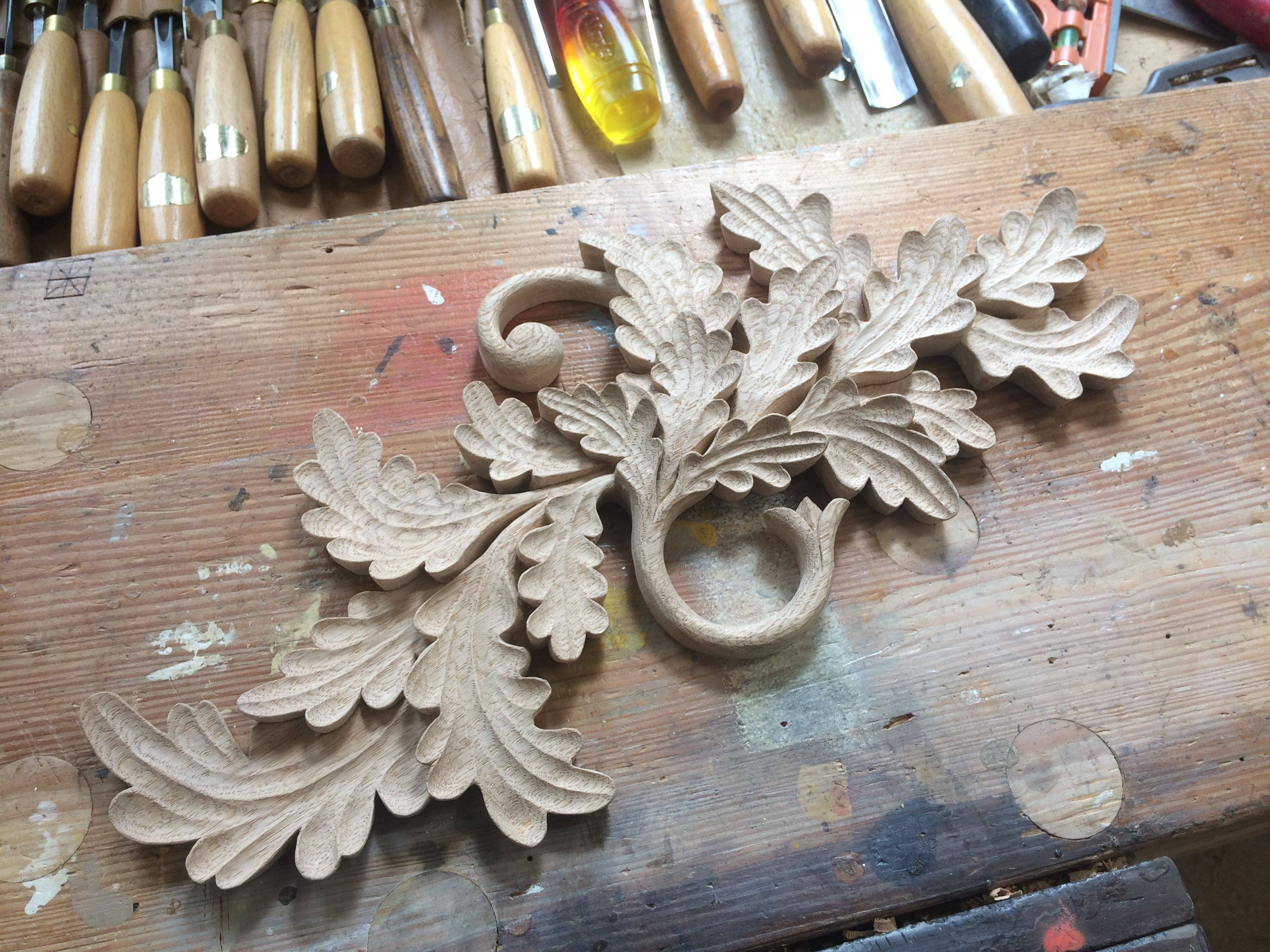Feature Headboard Carving